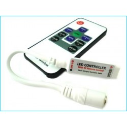 Mini Controller Bobina Led RGB Con Telecomando Wireless 12V 72W Fino A 40 Metri