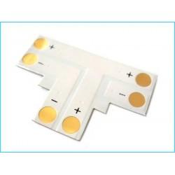 4 Connettore Passo 10mm Forma T per Allungare e Curvare Striscia Led Mono Colore Larghezza 10mm