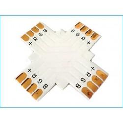 4 Connettore Passo 10mm RGB Forma X Croce per Allungare e Curvare Striscia Led RGB
