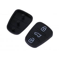Gommino 4 Tasti Nero Ricambio Telecomando Guscio Chiave Per Auto Hyundai I20 I30 IX20 IX35 Kia