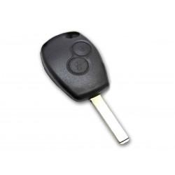 Guscio Chiave Telecomando 2 Tasti con Lama VA2 Batteria In Custodia Senza Transponder Per Renault Clio Modus Twingo Kangoo